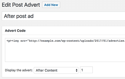 Post After Ads Plugin
