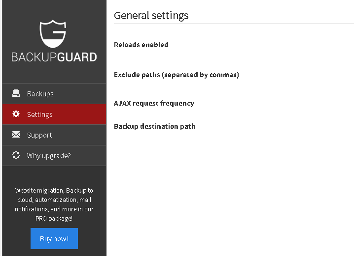 BackUpGuard WordPress Yedekleme Eklentisi