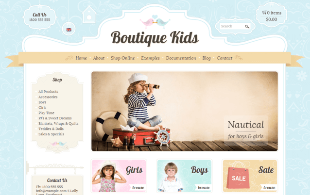 Boutique Kids WordPress Theme