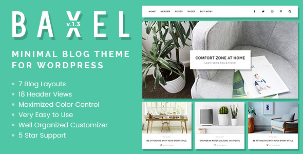 Baxel WordPress Theme