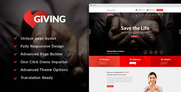 Giving WordPress Theme