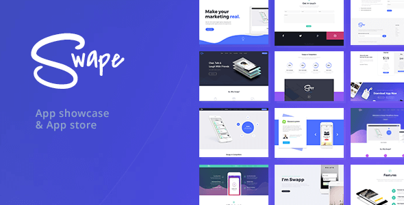 Swape App WordPress Theme