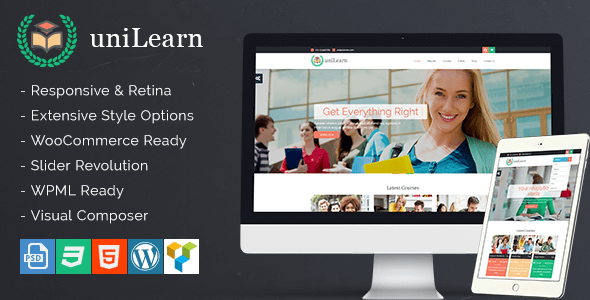 Unilearn WordPress Theme